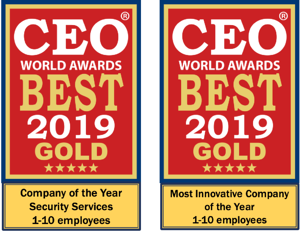 CEO World Awards 2019 - Gold Winners 24By7Security