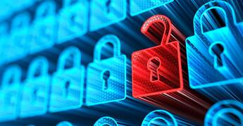 Cybersecurity Red Lock