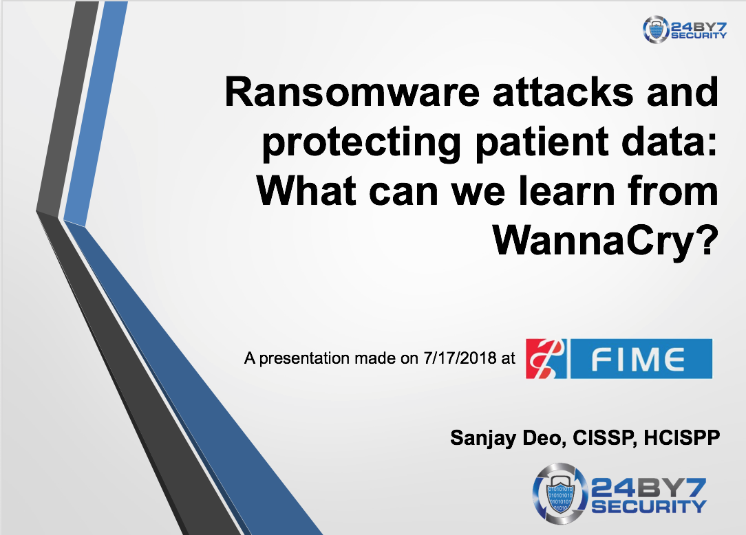 Ransomware Presentation FIME 24By7Security