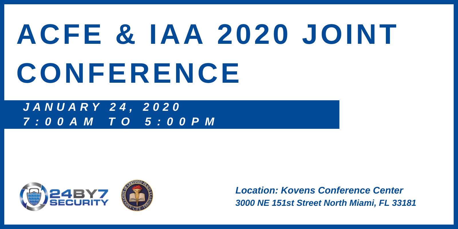 ACFE & IAA 2020 Joint Conference