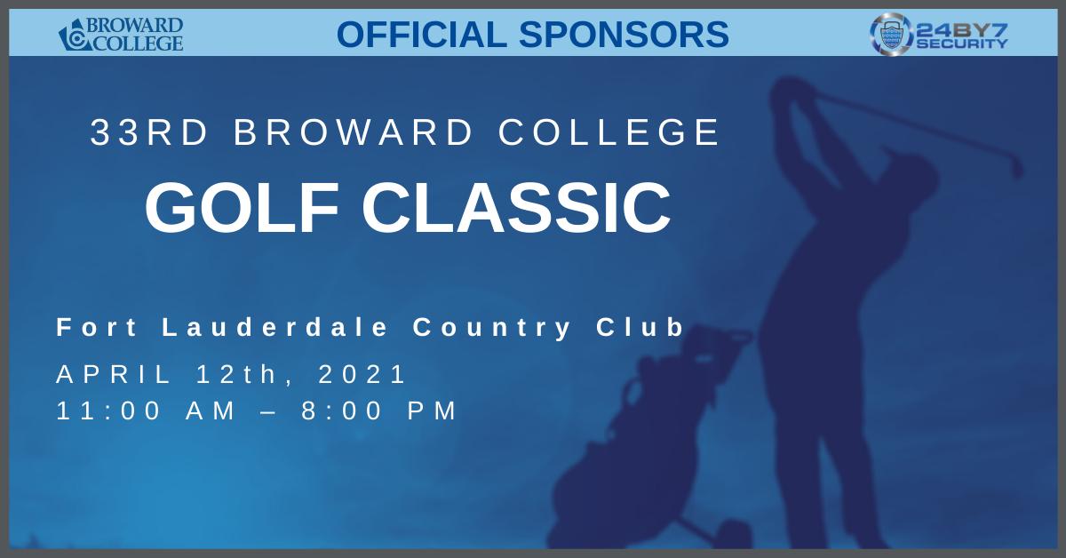 Broward College Golf Classic Graphic