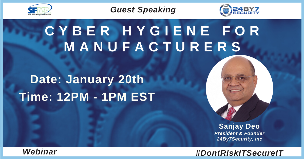 Cyber Hygiene for Manufacturers Graphic