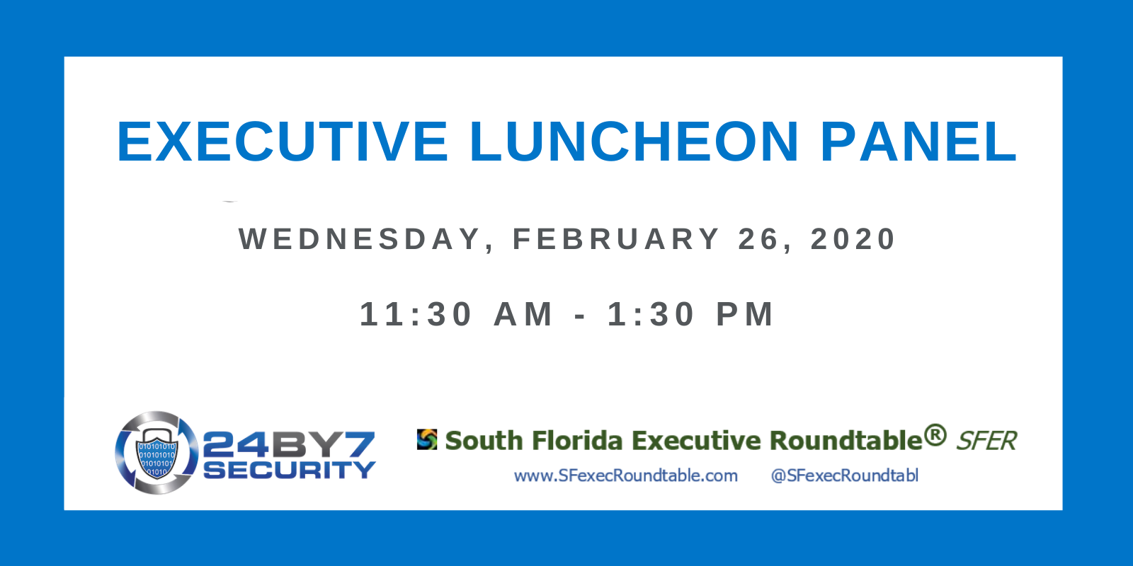 Executive Luncheon Panel Feb 2020