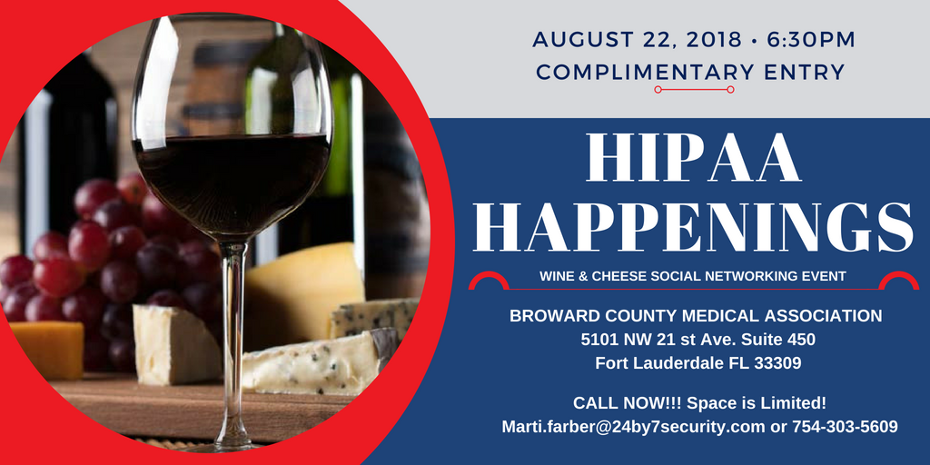 HIPAA Happenings - Free Healthcare event Broward county - 24By7Security