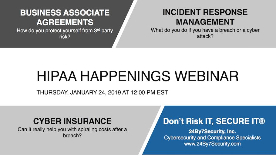 HIPAA HAPPENINGS WEBINAR JAN 24 2019 small