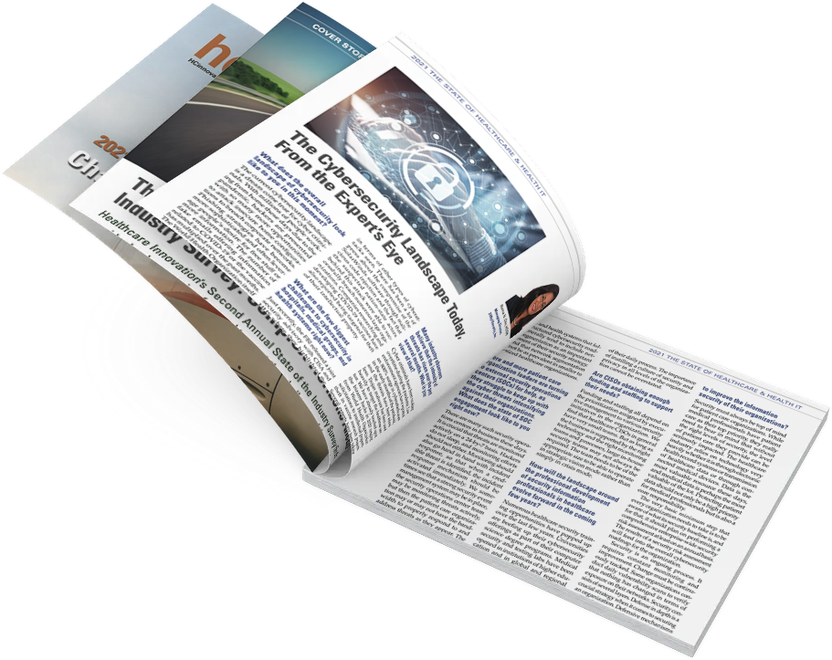 ISC2 magazine healthcare innovation mockup - RD article