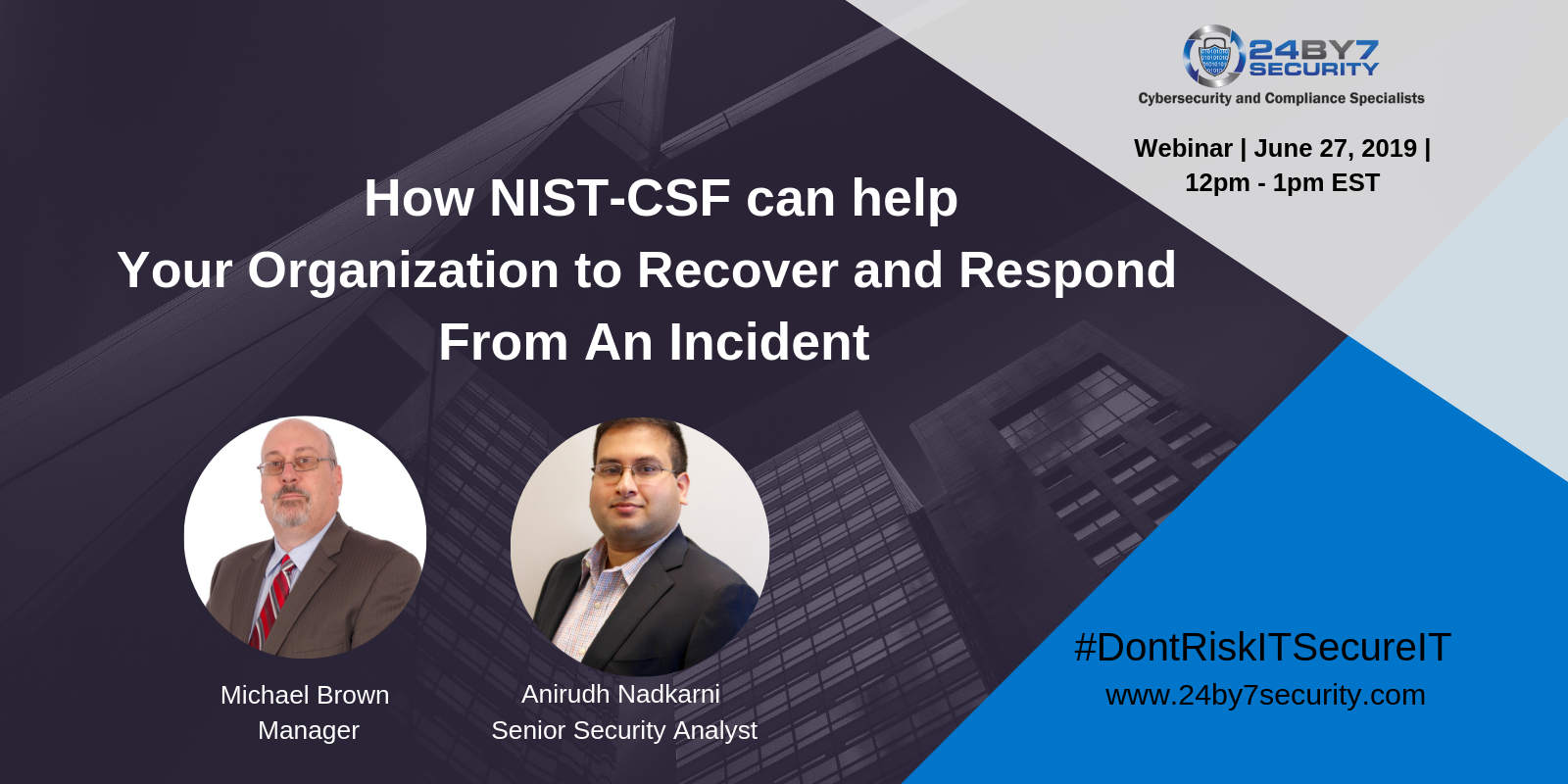 NIST-CSF Can help Organizations recover and respond Web 1600x800