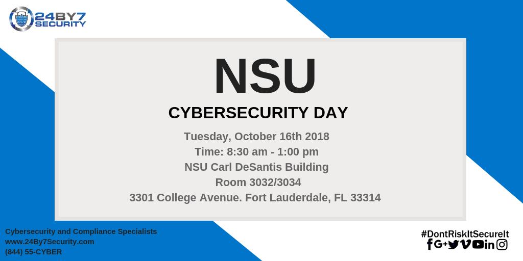 NSU - Cybersecurity Event