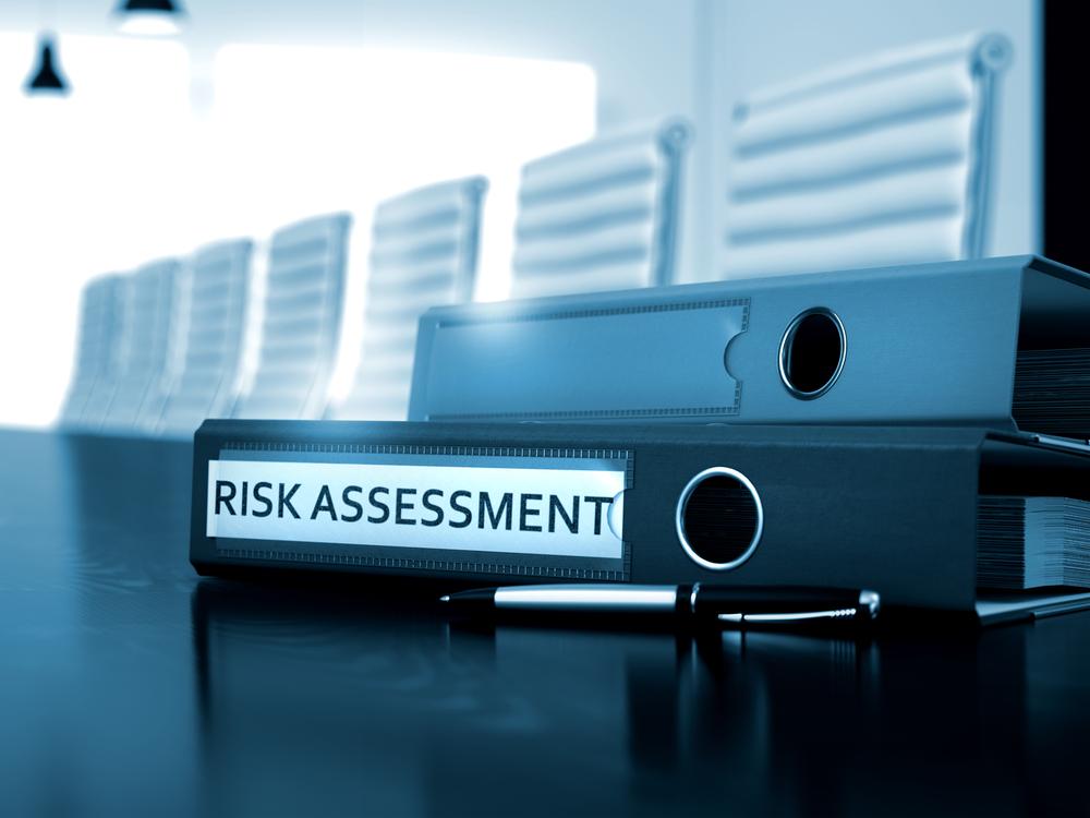 Risk Assessment. Business Concept on Blurred Background. Office Folder with Inscription Risk Assessment on Working Desktop. Risk Assessment - Concept. 3D.-1