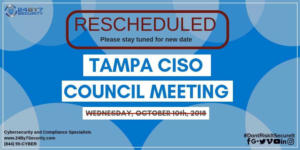 Tampa CISO Council meeting
