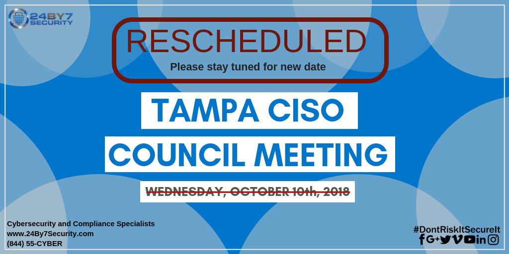 Tampa CISO Council Meeting